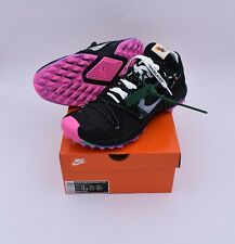 NWT Nike Off White Virgil Abloh Zoom Terra Kiger 5 Black Pink Sz12 DS 100%Auth.
