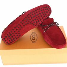 TOD'S Tods New sz UK 8 - US 9 Authentic Designer Mens Drivers Loafers Shoes red