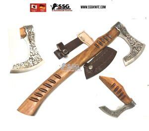 CUSTOM Art HANDMADE Forged STEEL Throwing  WOOD AXE HATCHET TOMAHAWK Knife