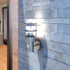 Lampada a parete da patio acciaio inox per interni ed esterni