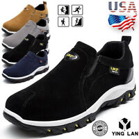 Men's Slip On Sports Outdoor Sneakers Casual Running Hiking Shoes Trainers Size