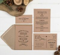 Rustic Kraft Wedding Invitation Set