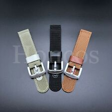 Canvas WWII 2pc Military watch band Vintage strap Fraric Nylon 18 20 22 24mm