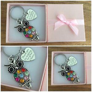 "Thank you Gift for Teacher, Teaching assistant, Nursery teacher ""Owl Keyring"""