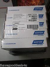 "Lot of 50 Norton R981 1-1/8"" x 30"" Scalloped 100 Grit Sanding Belts Ceramic Alum"