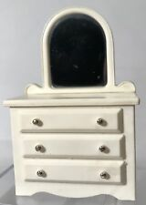 Vintage FP Toys Doll House Whiter Dresser Mirror Drawers BedRoom Fisher Price