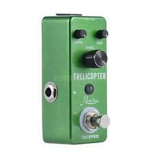 Tremolo Guitar Effect Pedal True Bypass Aluminum Alloy Body Green+Free Ship