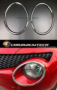 2010-2014 Pre-Facelift Nissan Juke F15 Chrome Headlight Surrounds