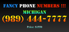 New listing Fancy Phone Numbers ! Michigan (989) 444-7777