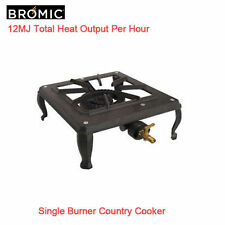 Bromic Cast Iron Single Burner LPG Country Cooker BBQ With Hose Regulator CC100