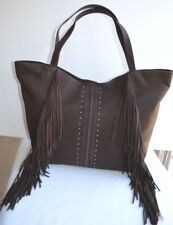 Lucky Brand NWT & Dust Bag  '' Zori ''  Fringe Tote in JAVA
