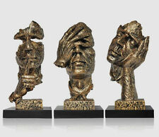 13.3 inches Face Sculpture Statue Abstract Modern Art Deco & free shipping