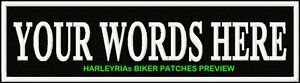 """CUSTOM/MADE TO ORDER BLACK 10"""" STRAP STYLE PATCHES  250 X 60mm"""