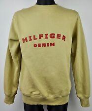 TOMMY HILFIGER Denim VTG Jumper Small Men Huge Spellout Logo Sweatshirt S Hoodie