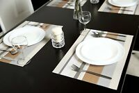 Placemats Set of 4 PVC Woven Non-Slip Heat-Insulation Table Mats Gift Kitchen
