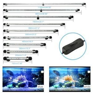 Aquarium Fish Tank LED Light Bar Lamp Pool Submersible Waterproof SMD White/RGB