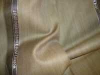 "4.44 yd LOWE DONALD WOOL Super 130s FABRIC Luxury Suiting 8 oz Bronze 160"" BTP"