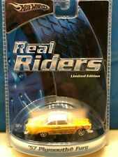 """HOT WHEELS REAL RIDERS """" 1957 PLYMOUTH FURY """" LIMITED EDITION"""