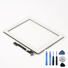 iPad 4 Glas Ersatz Frontglas Touchscreen Digitizer Display weiß mit Homebutton