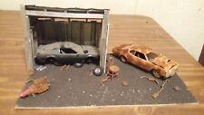 MODEL CAR JUNKYARD 1/24-1/25 G-SCALE  OLD BARN DIORAMA SCRATCH BUILT