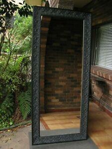 Large Full Length Wall Mirror Ornate Heritage Black Frame 2Mx85cm