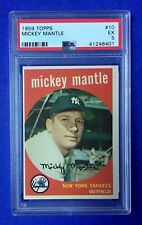 1959 Topps MICKEY MANTLE #10 Yankees HOF - PSA 5 Excellent - Just Graded!