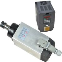 CNC FOUR BEARINGS ER20 SPINDLE MOTOR 3KW AIR-COOLED& Variable Frequency Drives
