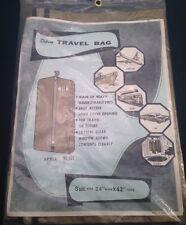 """Deluxe Travel Suit Garment Storage Bag VTG Vinyl W Metal Zipper 24"""" X 42"""""""