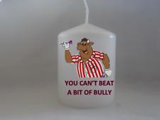 Unique Bullseye Bully Jim Bowen Candle Gift