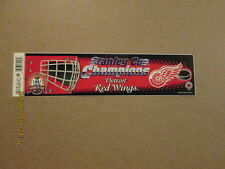 NHL Red Wings 2002 Stanley Cup Champions Bumper Sticker