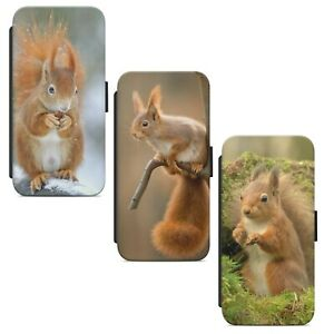 Cute Little Squirrel WALLET FLIP PHONE CASE COVER FOR IPHONE SAMSUNG HUAWEI