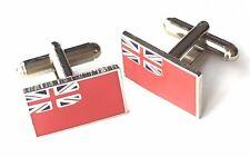 Royal Navy Rojo Enseña Militar Esmalte Escudos Gemelos (N68) Regalo En Caja