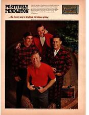 1967 Positively Pendleton Christmas Cardigan Robe Shirt Portland Oregon Print Ad