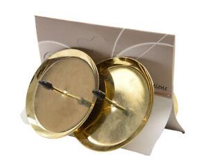 4 Kerzenhalter 6cm Metall zum Stecken mit Dorn Adventskranz Adventskerzenhalter