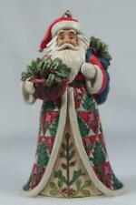 Jim Shore 'Pinecone Santa With Basket Ornament' 2018 #6001506 New In Box