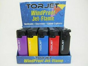 5, 10, 25 X  TORJET WINDPROOF JET FLAME ELECTRONIC LIGHTERS