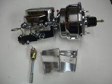 "1958 1959 1960 chevy impala brake booster master chrome 8"" dual diaphragm pv2"