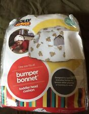 New Toddler Jolly Jumper Bumper Bonnet Soft Head Cushion Teddy Bear Print