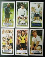 GROUP OF 6 TOTTENHAM HOTSPUR  Score UK football trade cards NICHOLSON BRAZIL ++