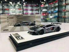 Timothy & Pierre 1/64 LBWK Liberty Walk Aventador 2.0 Fighter Grey Lamborghini