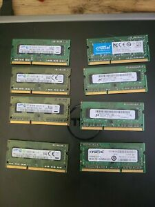 8 x 2GB sticks of Laptop RAM