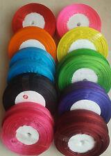 ORGANZA RIBBON 12mm, 10 Rolls, 10 Different colour (50 yards each roll) Bargain