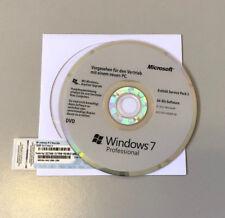MS Microsoft Windows 7 Pro (SP1) 64bit + Lizenz Key OEM Hologramm DVD nur 7 Tage