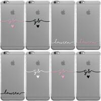 DYEFOR HANDWRITTEN NAME CLEAR CUSTOM HARD PHONE CASE COVER FOR APPLE IPHONE