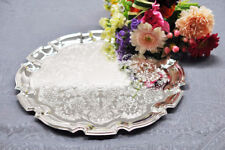 Queen Anne Silver Plated Medium Chippendale Tray-Tarnish Resistant UK made Gift