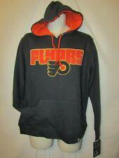 mens majestic philadelphia flyers hoodie pullover M nwt $65 gray