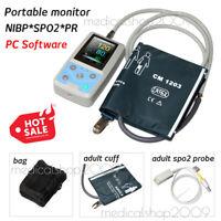 CONTEC PM50 Patient monitor,Portable Blood Pressure Monitor (NIBP SPO2 PR)
