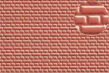 Slaters embossed Plastikard NO.0400 7mm Brick red