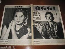RIVISTA OGGI 1958/10=MARIA PIA DI SAVOIA=ELEONORA ROSSI DRAGO=SOFIA LOREN=