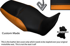 BLACK & ORANGE CUSTOM FITS HONDA XL 1000 V VARADERO 08-13 DUAL SEAT COVER